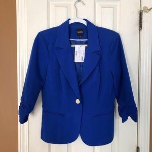 Women's large blue 3/4 sleeve blazer